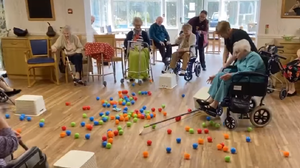 The game in progress (Bryn Celyn Care Home)