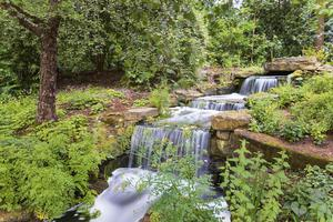 The garden's waterfall helps to circulate water in the lake, thereby oxygenating and revitalising it (Royal Collection Trust/ Her Majesty Queen Elizabeth II 2021/PA)