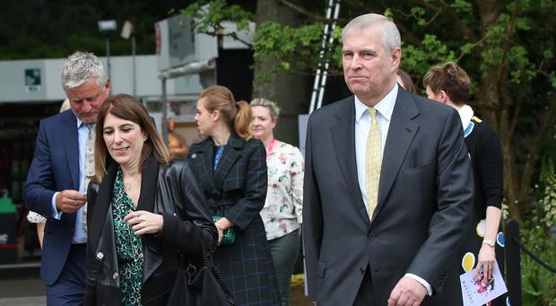 The Duke of York and his then private secretary Amanda Thirsk in 2019 (Yui Mok/PA)