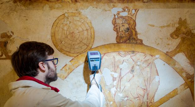 Longthorpe Tower, Peterborough, is one of the wall paintings in English Heritage's care (English Heritage/PA)