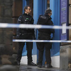 The armed siege led to a large part of Edinburgh's famous Royal Mile being sealed of