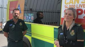Michael Hipgrave and Deena Evans were injured in the attack (West Midlands Ambulance Service/PA)