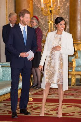 The Duke and Duchess of Sussex attend a reception at Buckingham Palace (Dominic Lipinski/PA)