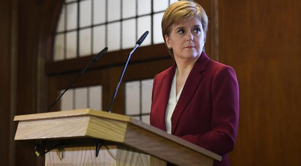 Nicola Sturgeon said she would be 'very happy' for a general election to be held before Christmas (Daniel Leal-Olivas/PA Wire/PA Images)