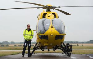 William pictured in 2015 starting his job with the East Anglian Air Ambulance (Stefan Rousseau/PA)