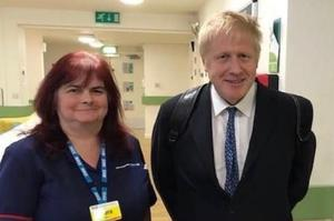 Sara Dee Trollope with Prime Minister Boris Johnson (Family handout/PA)