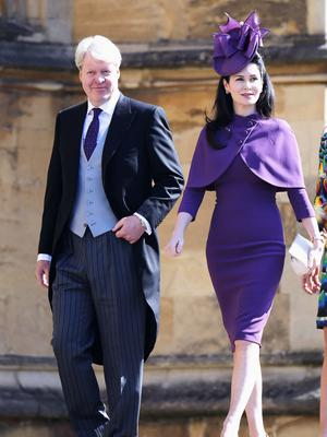 Earl Spencer with his wife Karen Spencer (Chris Jackson/PA)