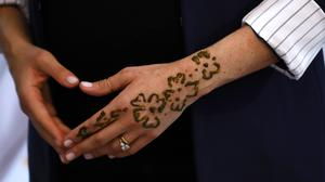 The Duchess of Sussex's hand after a henna ceremony (Tim Whitby/PA)