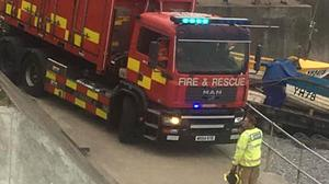 Firefighters freed the man who was trapped in rocks at Sheringham in Norfolk (Lissy Jackson/PA)