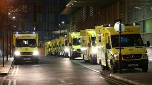 Ambulances have been forced to queue outside the Royal London Hospital (Yui Mok/PA)