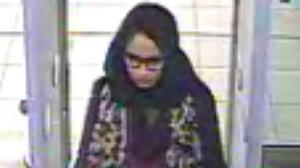 Handout still taken from CCTV issued by the Metropolitan Police of east London schoolgirl Shamima Begum, going through security at Gatwick airport (Metropolitan Police/PA)