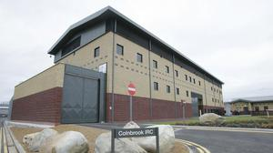Protesters gathered at Colnbrook immigration removal centre