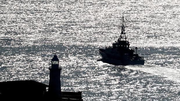 A Border Force cutter vessel heads out of the Port of Dover in Kent (Gareth Fuller/PA Wire)