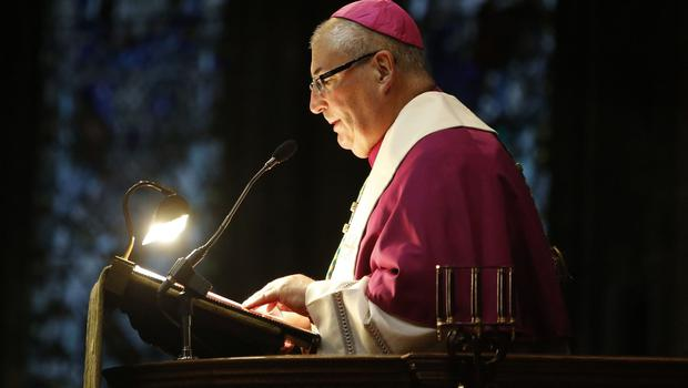 Archbishop Philip Tartaglia speaks during the service of remembrance at Glasgow Cathedral