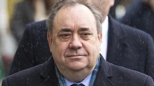 Former Scottish first minister Alex Salmond arrives at the High Court in Edinburgh for the third day of his trial over accusations of sexual assault (Jane Barlow/PA)