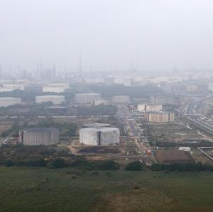 The Esso fuel refinery at Fawley near Southampton