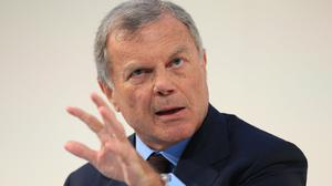 Chief executive officer of WPP Sir Martin Sorrell is stepping aside after 33 years with the firm (Jonathan Brady/ PA)