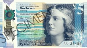 Writer Nan Shepherd features on the new £5 note from Royal Bank of Scotland (RBS/PA Wire)