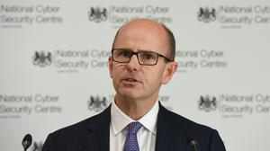 File photo dated 16/10/18 of GCHQ director Jeremy Fleming, who has issued a new warning about the potential threat to Britain's national security threat of allowing Chinese tech firms to become involved in Britain telecoms network.
