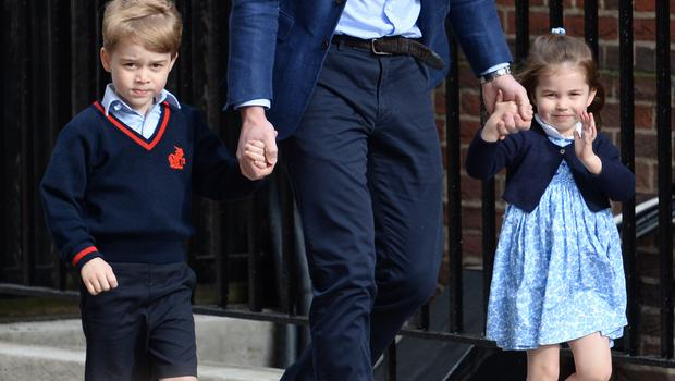 George and Charlotte will be among the young helpers (Kirsty O'Connor/PA)