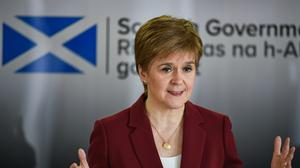 First Minister Nicola Sturgeon said without further support for businesses, coronavirus cases could surge or more jobs will be lost (PA)