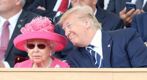 US President Donald Trump during commemorations for the 75th anniversary of the D-Day landings at Southsea Common, Portsmouth (Chris Jackson/PA)
