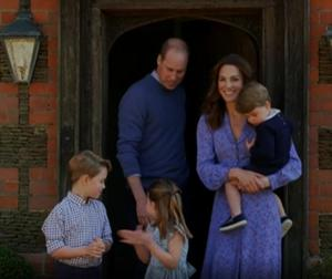 The Duke and Duchess of Cambridge and their children took part in the initiative (BBC TV/PA)