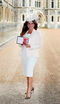 Jacqueline Gold at an investiture ceremony at Windsor Castle yesterday