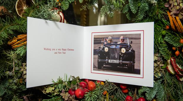 The 2019 Christmas card of the Prince of Wales and Duchess of Cornwall (Dominic Lipinski/PA)