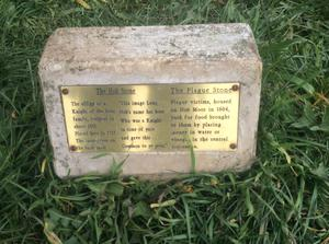 A plaque explaining the purpose of the plague stone (PA)