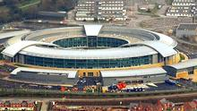 The Government Communication Headquarters (GCHQ) in Cheltenham, Gloucestershire