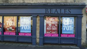 Beales will close its final stores on Thursday – two weeks early – due to coronavirus (Steve Parsons / PA)