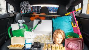 Uber handout photo of some of the lost property reported to Uber (PA)