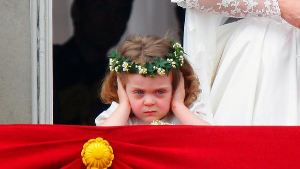 Grace van Cutsem on the palace balcony at William and Kate's wedding (Chris Ison/PA)