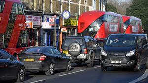 Traffic-related air pollution has been linked with four million childhood asthma cases (Victoria Jones/PA)