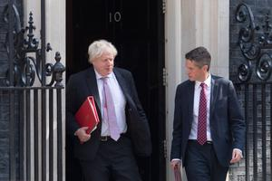 Boris Johnson is working with Education Secretary Gavin Williamson (right) on a 'catch-up' package for pupils (Stefan Rousseau/PA)