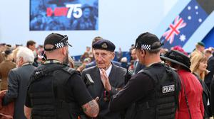D-Day veterans reunited to remember fallen comrades at the emotional event (Andrew Matthews/PA)
