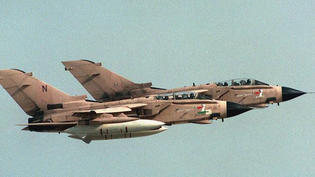 Tornado bombers taking off from their base during the 1991 Gulf War (David Giles/PA)