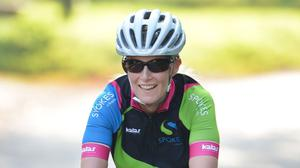 The Countess of Wessex in training ahead of her cycling 445-mile Edinburgh to Buckingham Palace 'DofE Diamond Challenge' bike ride, which marks the 60th anniversary of The Duke of Edinburgh's Award Scheme.