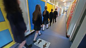 The Prime Minister said advice for schools could be altered if the medical advice changed (Liam McBurney/PA)