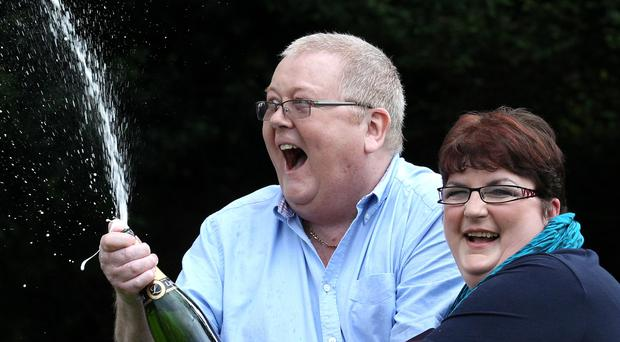 Colin Weir with ex-wife Chris won a EuroMillions jackpot of £161 million (Andrew Milligan/PA)