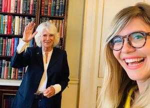 The Duchess of Cornwall with BBC Radio 5 Live's Emma Barnett, whose show she guest edited (BBC/PA)
