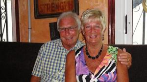 The funeral is taking place of Denis and Elaine Thwaites