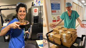 The campaign has provided around 4,000 meals already (Royal London Hospital and Barnet Hospital/ Meals for the NHS/PA)