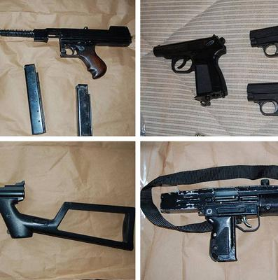 Some of the arms that have been seized by an anti-gang squad in one of Scotland Yard's biggest gun seizures.