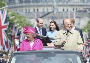 The Queen and the Duke of Edinburgh were greeted by huge crowds when the Queen turned 90 (Toby Melville/PA)