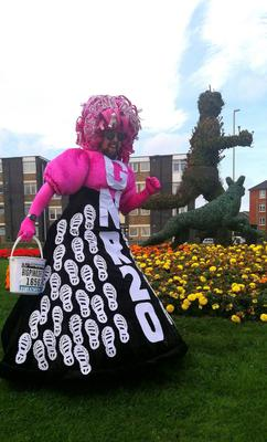 Colin Burgin-Plews, from South Shields, who is known for running various races in a pink dress (Colin Burgin-Plews)