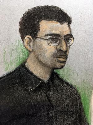 Hashem Abedi in a previous court appearance (Elizabeth Cook/PA