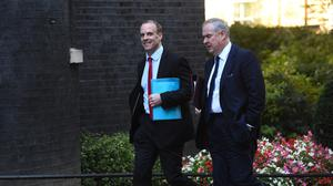 Brexit Secretary Dominic Raab (left) and Attorney General Geoffrey Cox (Kirsty O'Connor/PA)