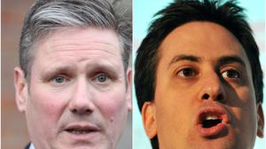 Sir Keir Starmer and Ed Miliband (PA)